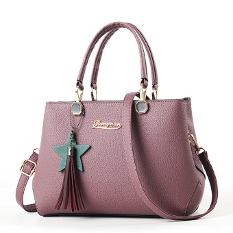 Korean-style autumn handbag women's bag (Loose red women's bag Deep Purple)