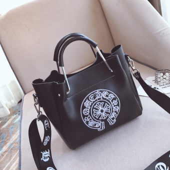 Korean-style autumn New style messenger bag women's bag (Black)