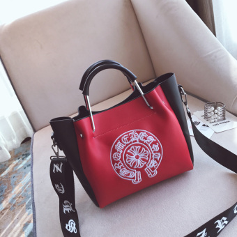 Korean-style autumn New style messenger bag women's bag (Red)