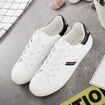 Korean-style autumn New style white shoes women shoes (White)