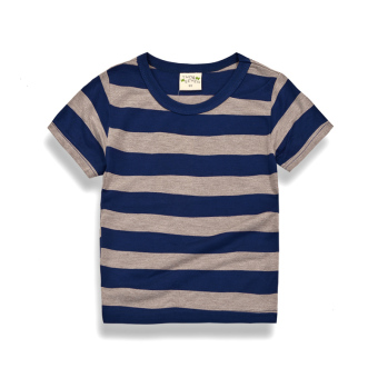 Korean-style boy's short sleeved New style T-shirt (Blue) (Blue)