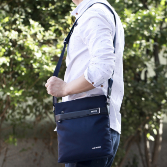 Korean-style canvas business student Shinebager men's bag (Shishang blue)