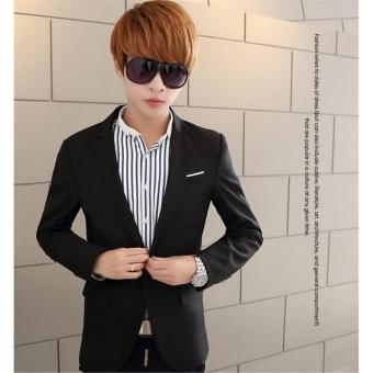 Korean Style Casual Slim Fit Men Coat Jacket/Wedding Suit/Tuxedo/Working Business suit - intl - 4