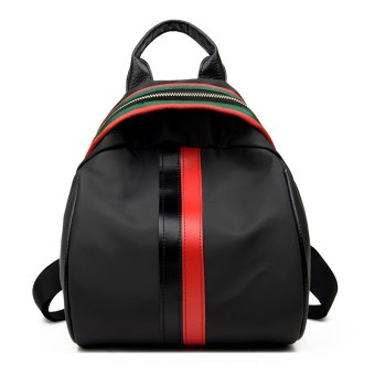 Korean-style color of the female travel Shinebager backpack (Black and red color of the [thicker version])