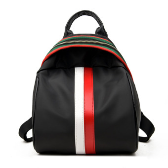 Korean-style color of the female travel Shinebager backpack (Red and white color of the [thicker version])