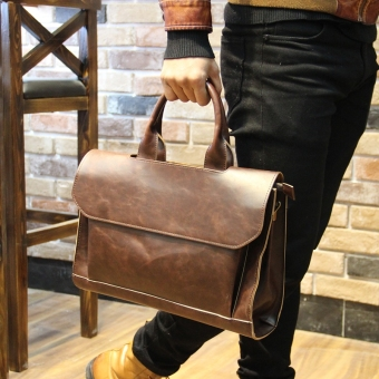 Korean-style Crazy Horse leather business casual bag New style hand bag (PARK'S color)
