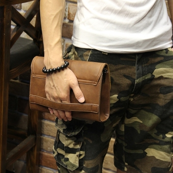 Korean-style Crazy Horse leather styling New style clutch bag men's handbag
