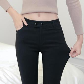 Korean-style female autumn New style cotton pants leggings (Black)