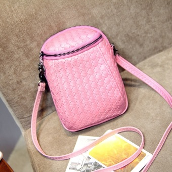 Korean-style female mobile phone bag small bag (Pink)