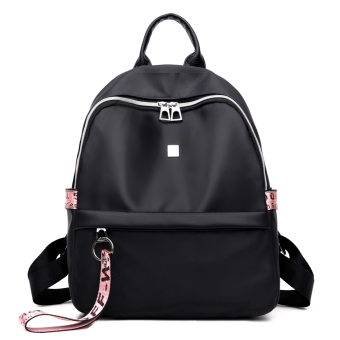 Korean-style female New style bag backpack (Pink Ribbon)