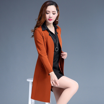Korean-style female New style Slim fit dress outfit dress (Orange)