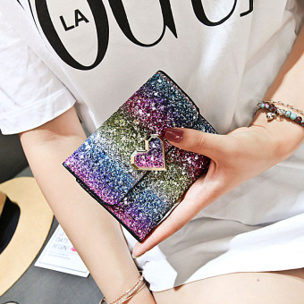 Korean-style female New style student sequin purse bag small wallet (Style five)
