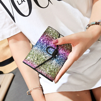 Korean-style female New style student sequin purse bag small wallet (Style two)