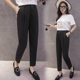 Korean-style female spring and summer Plus-sized pants harem pants