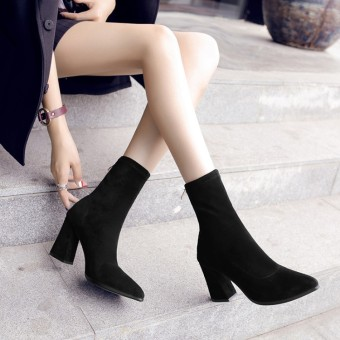 Korean-style female spring Ankle boots pointed short boots