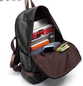 Korean Style Large PU leather Travel Bag/Backpacks(Brown) - intl - 2