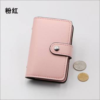 Korean-style men's large capacity driving license card holder (Pink) (Pink)