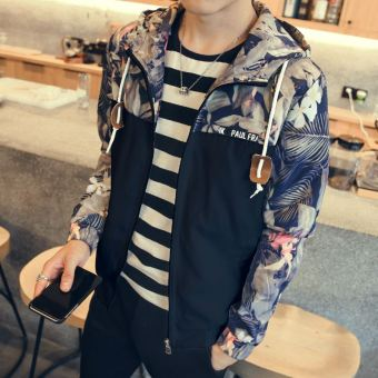 Korean-style men's Spring and Autumn student jacket (J50 black)