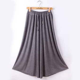 Korean-style modal New style Plus-sized loose casual pants (Dark gray color) (Dark gray color)
