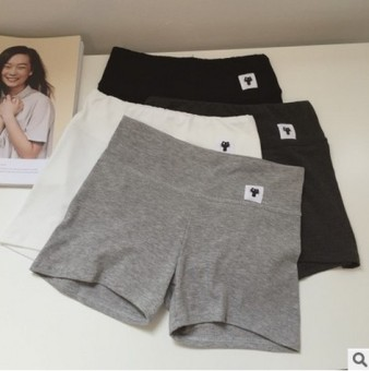 Korean-style modal slimming stretch leggings safety shorts (Light gray color) (Light gray color)