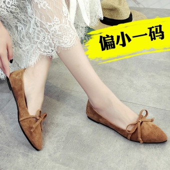 Korean-style New style Flat pointed sandals (Women's + Brown)