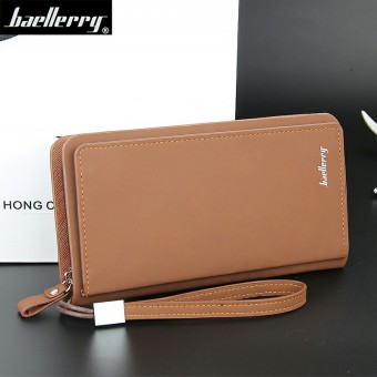 Korean-style New style men's wallet (Deep brown color)