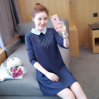 Korean-style New style Shishang models mid-length maternity dress Dress