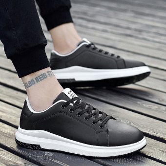 Korean-style New style winter men shoes (Black)