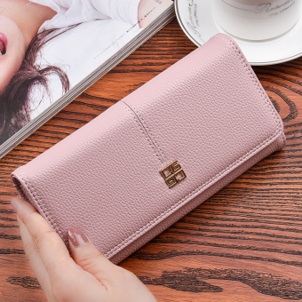 Korean-style New style women long clutch bag women's wallet (Pink (to send gift box packaging))