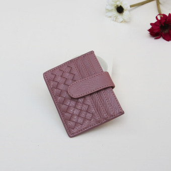 Korean-style New style woven ultra-thin card holder (Lotus purple) (Lotus purple)