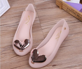 Korean-style open toed foot covering flat sandals gel shoes (Women's + 522 nude color)