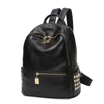 Korean-style Oxford Cloth female mini women's bag backpack (Black (PU Leather))