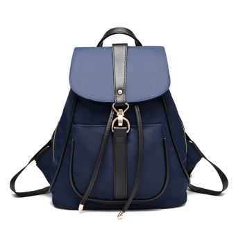 Korean-style Oxford Cloth New style women's backpack (Sapphire blue color)