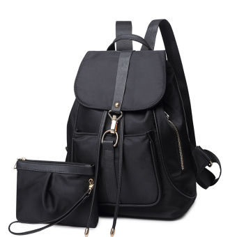 Korean-style plain weave bag New style student backpack