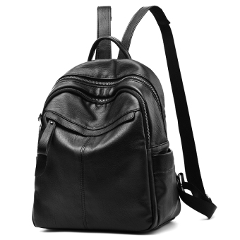 Korean-style PU Leather female New style women's backpack (0309 bark pattern (to send wallet))