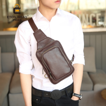 Korean-style shoulder men's small tide bag New style chest pack (PARK'S collection collar discount coupons to send shipping insurance)