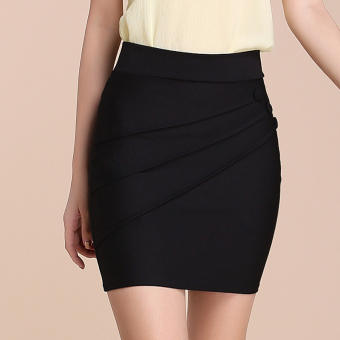 Korean-style skirt sheath half-length skirt (Black)