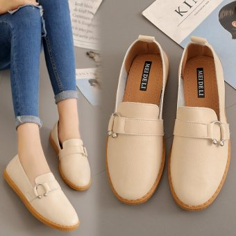 Korean-style soft bottom autumn New style casual shoes flat shoes (87 + M B-5 buckle soft bottom)