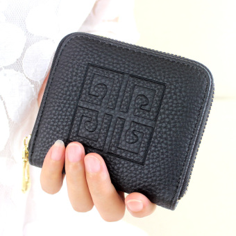 Korean-style spring and female small purse women's wallet (Black) (Black)