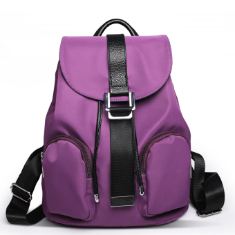 Korean-style spring and summer New style trendy bag backpack (Violet)