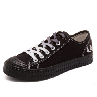 Korean-style student cloth shoes white shoes (F125 black (cloth))