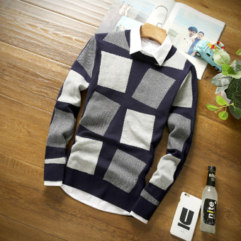 Korean-style Teenager autumn men sweater (Gray)