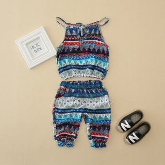 Korean-style thin girls strap two piece suit