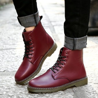 Korean-style tooling men's New style snow boots Dr. Martens (Red)
