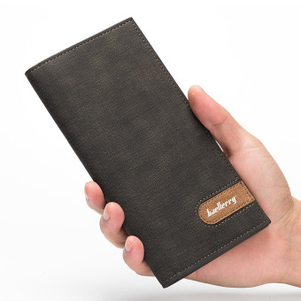 Korean-style ultra-thin wallet men's long wallet (Black)