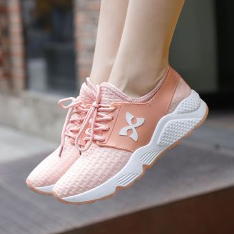 Korean-style white female summer shoes sports shoes (Pink)