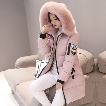 Korean-style winter New style Slim fit coat down padded (Pink)