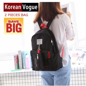 KOREAN VOGUE KV7001 Women Backpack Ladies Set Bag (Black)