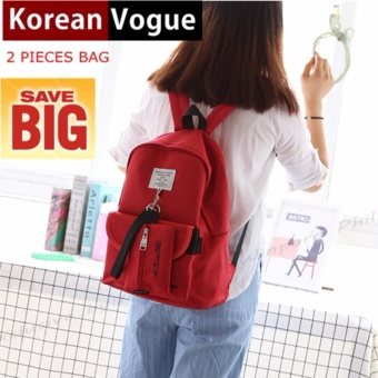 KOREAN VOGUE KV7001 Women Backpack Ladies Set Bag (Red)