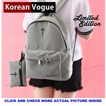 KOREAN VOGUE KV7002 Women Backpack Ladies Set Bag (Grey)